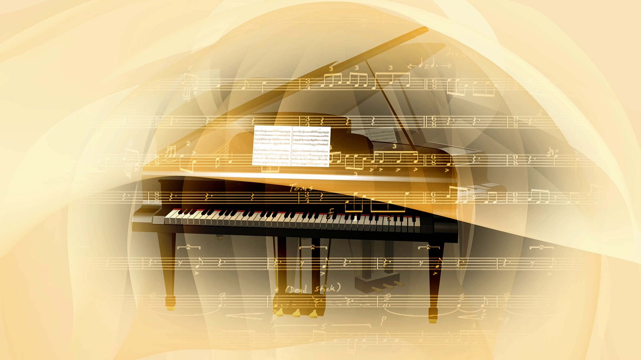 Piano Music Notes Keyboard Pianist  - tommyvideo / Pixabay